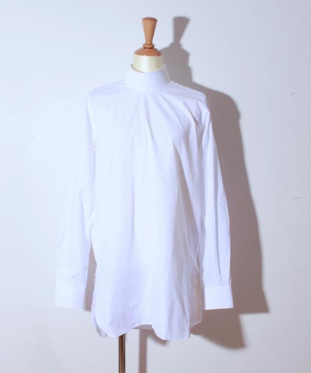 JUN MIKAMI ハイネックシャツ 白