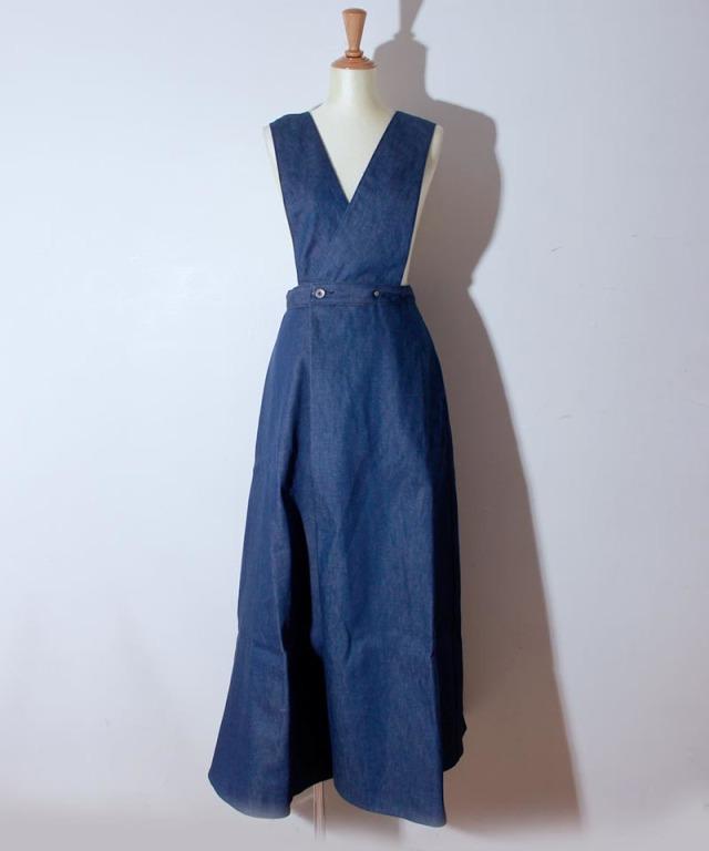 JUN MIKAMI デニムジャンパースカート ブルー