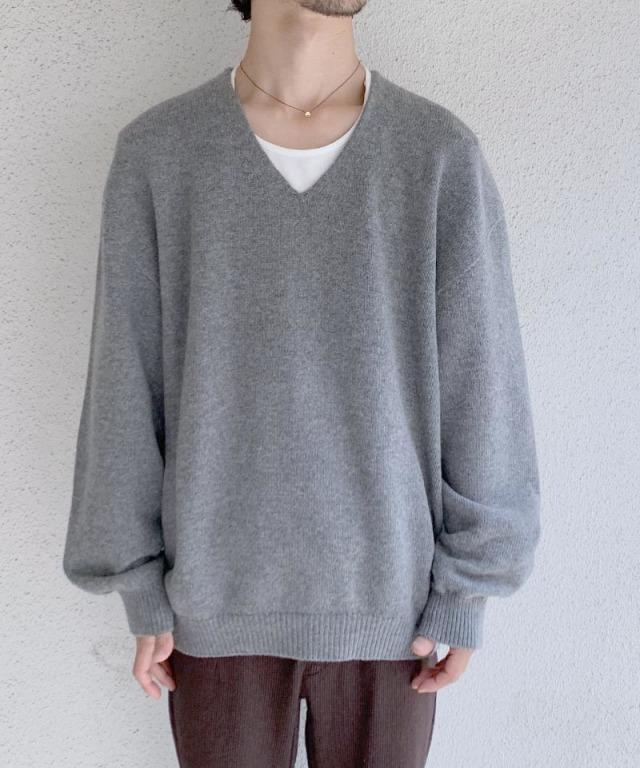 crepuscule wholegarment V/N pullover Gray