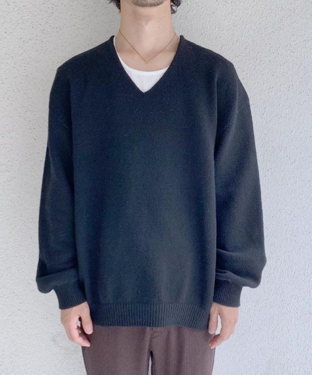 crepuscule wholegarment V/N pullover Navy