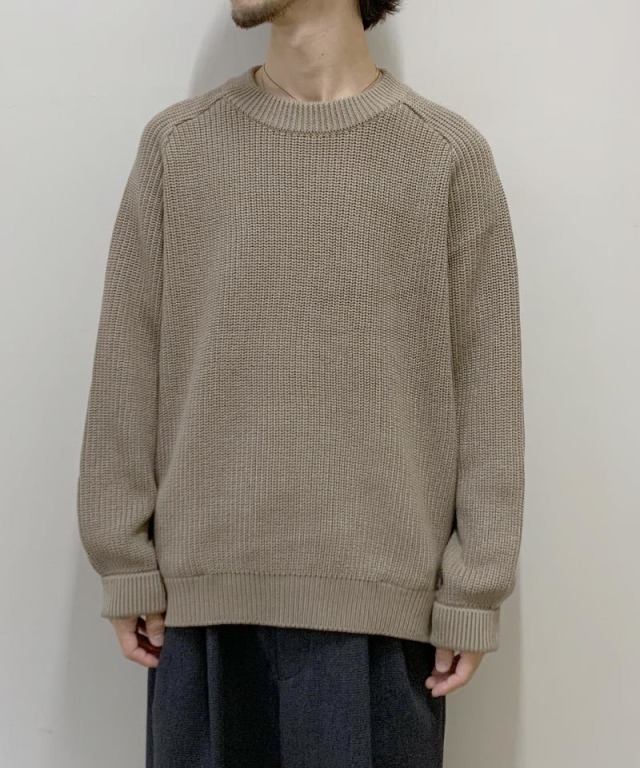 CURLY AZTEC CN SWEATER SMOKED BEIGE