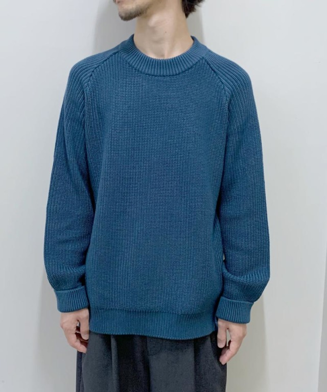 CURLY AZTEC CN SWEATER INK BLUE
