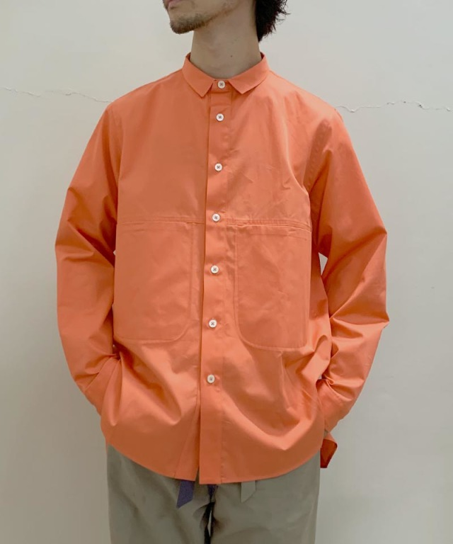 QUILP Pocket Shirts moss orange