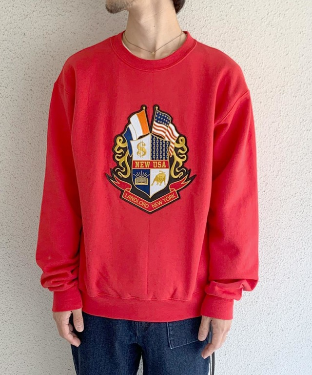 LANDLORD Prestigious Fleece Crew Neck Scarlet