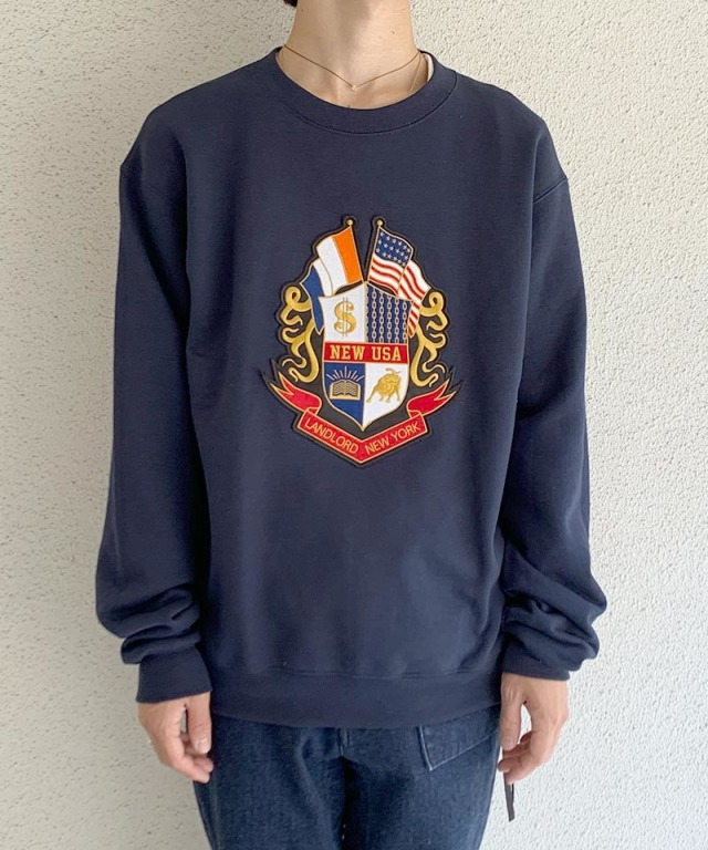 LANDLORD Prestigious Fleece Crew Neck Navy