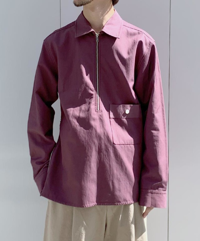 3.1 Phillip Lim HALF ZIP SHIRT wine
