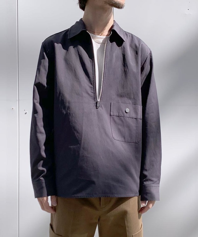 3.1 Phillip Lim HALF ZIP SHIRT navy