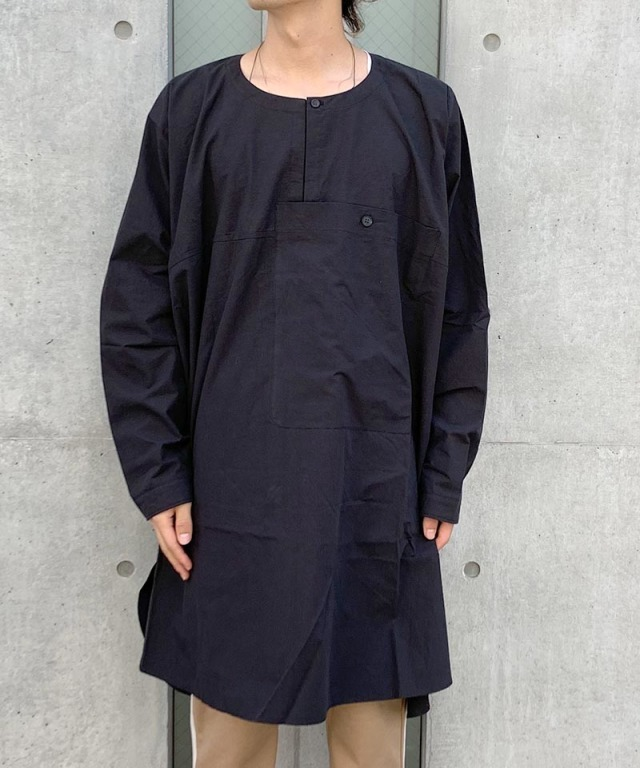 O project LS TUNIC POPLIN BLACK