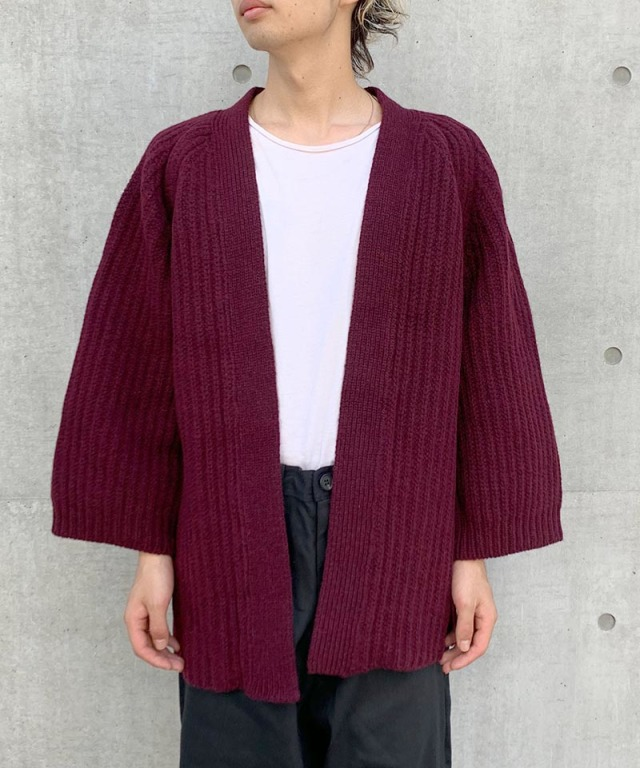 O project KNITTED CARDIGAN WINE