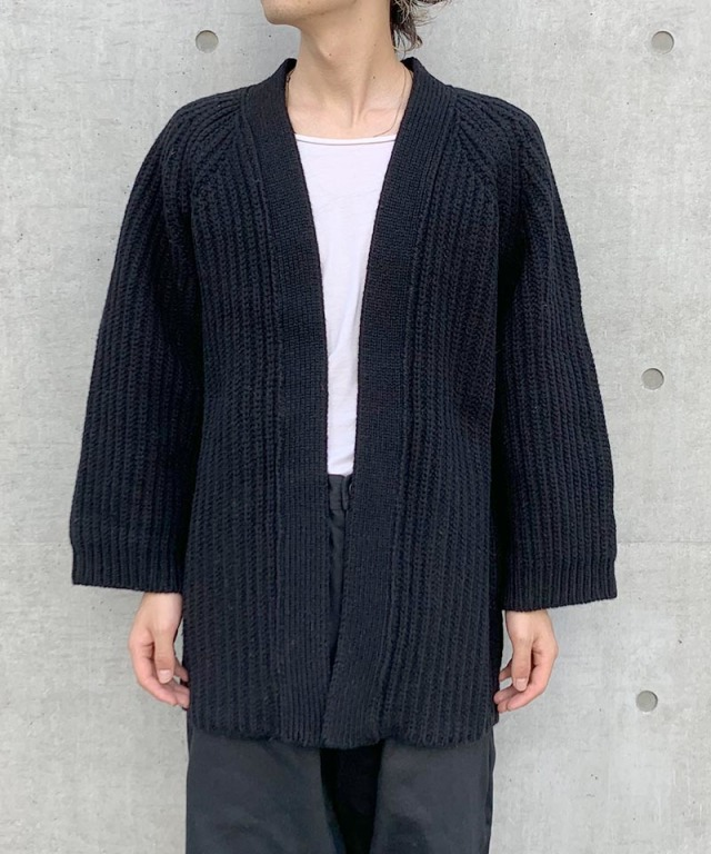 O project KNITTED CARDIGAN BLACK