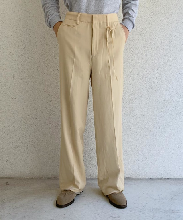 Midorikawa WIDE TROUSERS LIGHT BEIGE