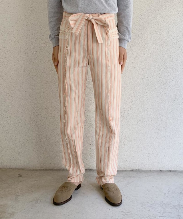 Midorikawa SILK DOBBY TROUSERS ORANGE