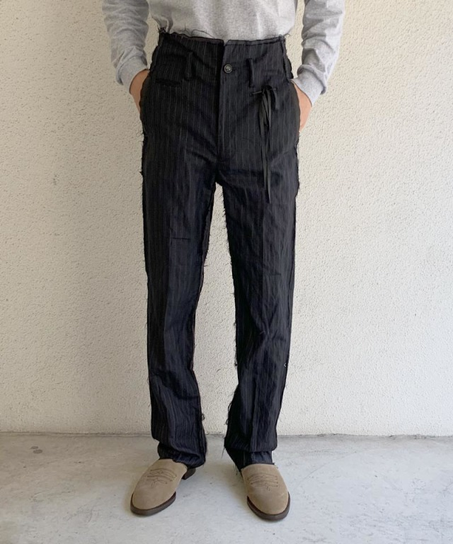 Midorikawa NAVY STRIPE TROUSERS NAVY STRIPE