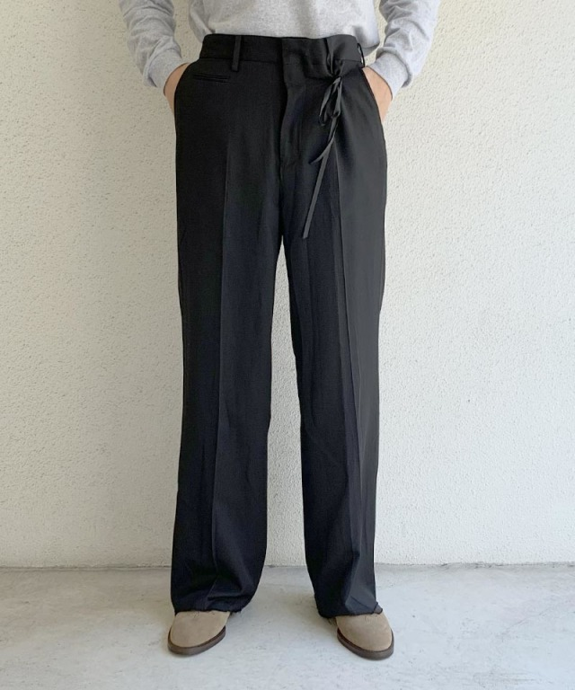 Midorikawa WIDE TROUSERS BLACK