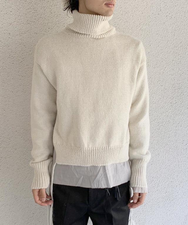 Midorikawa layered knit OFF WHITE
