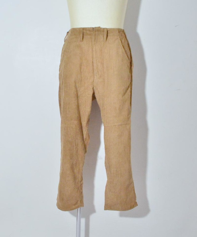 bukht BIG CORD PANTS BEIGE