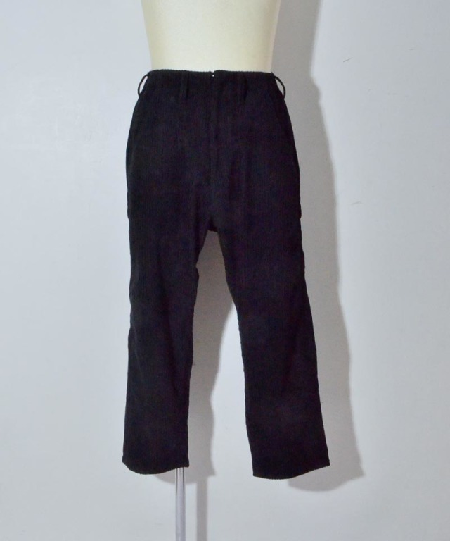 bukht BIG CORD PANTS BLACK