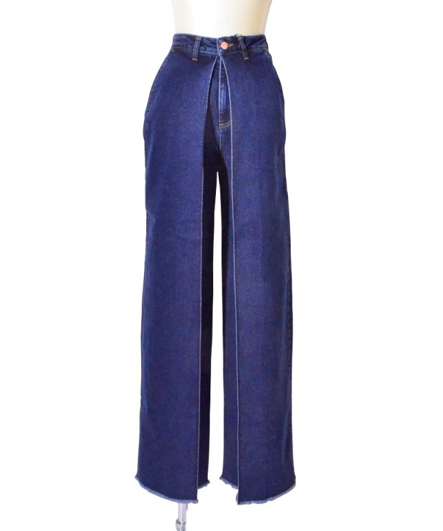 AALTO CLASSICAL FRONT PLEAT DENIM 90S BLUE WASH