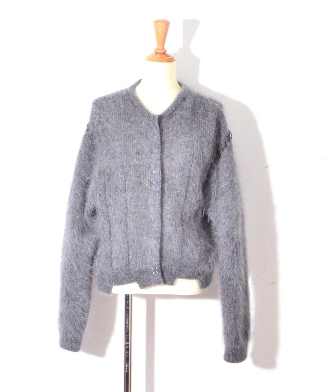 ponti MOHAIR KNIT CARDIGAN GREY