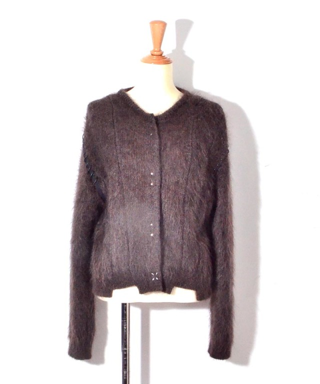 ponti MOHAIR KNIT CARDIGAN COFFEE