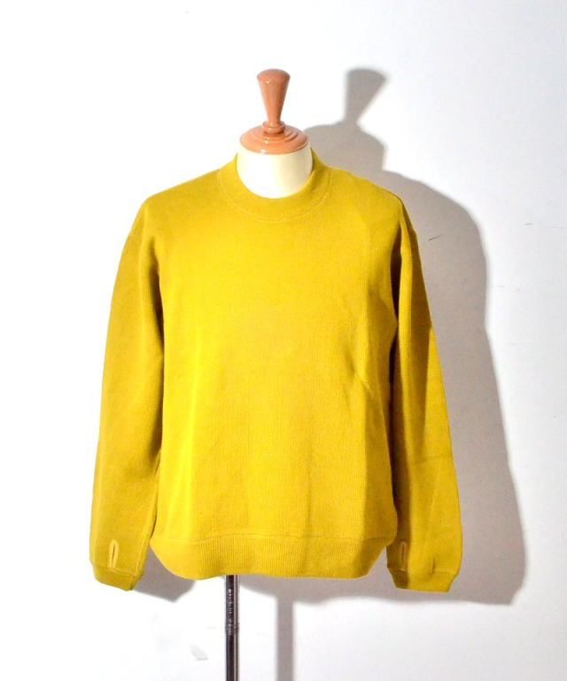 CURLY LUMPY SWEATER YELLOW