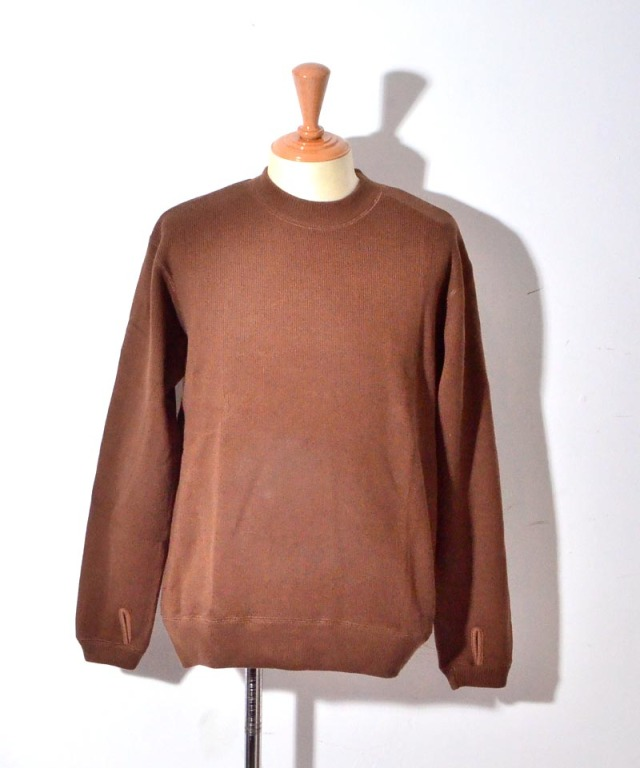 CURLY LUMPY SWEATER BROWN