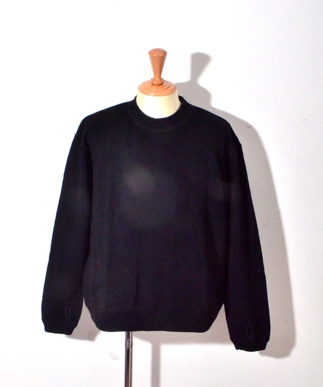 CURLY LUMPY SWEATER BLACK
