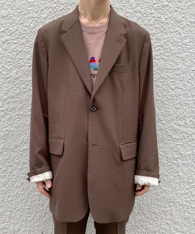DAIRIKU Oversized Tairoed Jacket BRN