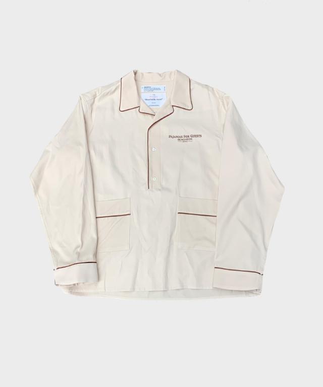DAIRIKU Pullover Pajamas Shirts Ivory