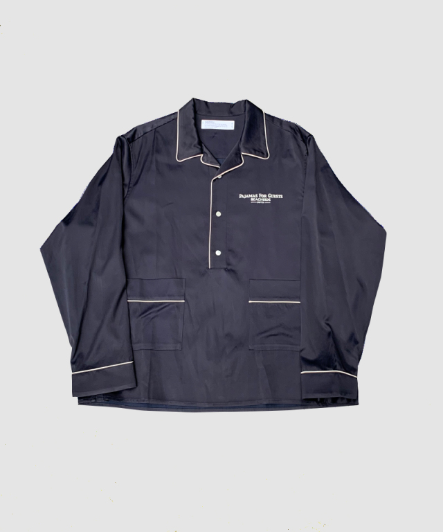 DAIRIKU Pullover Pajamas Shirts Navy