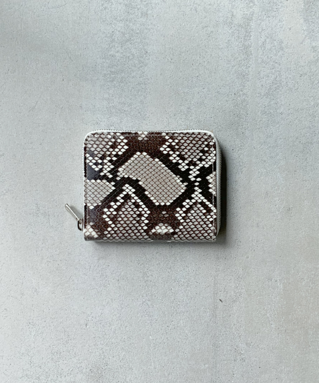 Hender Scheme python square zip purse natural python