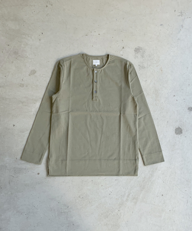 CURLY CLOUDY 3B LS HENLEY OLIVE