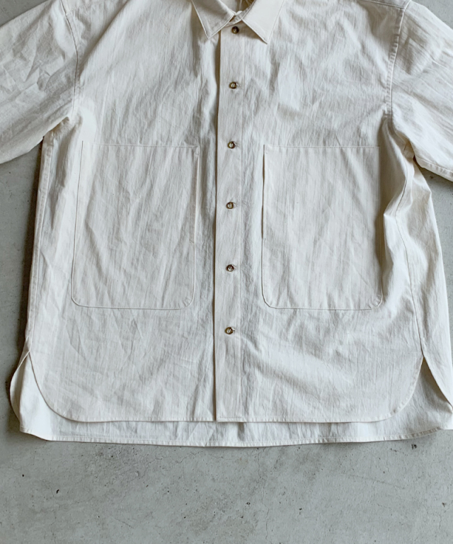 POLYPLOID SHIRT JACKET A OFF WHITE