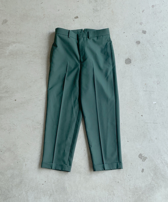 beautiful people mat worsted chambray work pants green