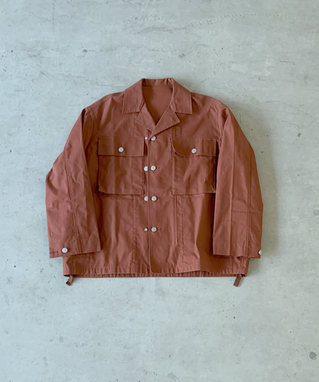 beautiful people oiled duck cloth military jaket brick