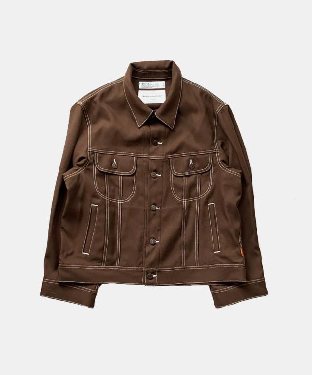 DAIRIKU REGULAR Polyester Jacket BROWN
