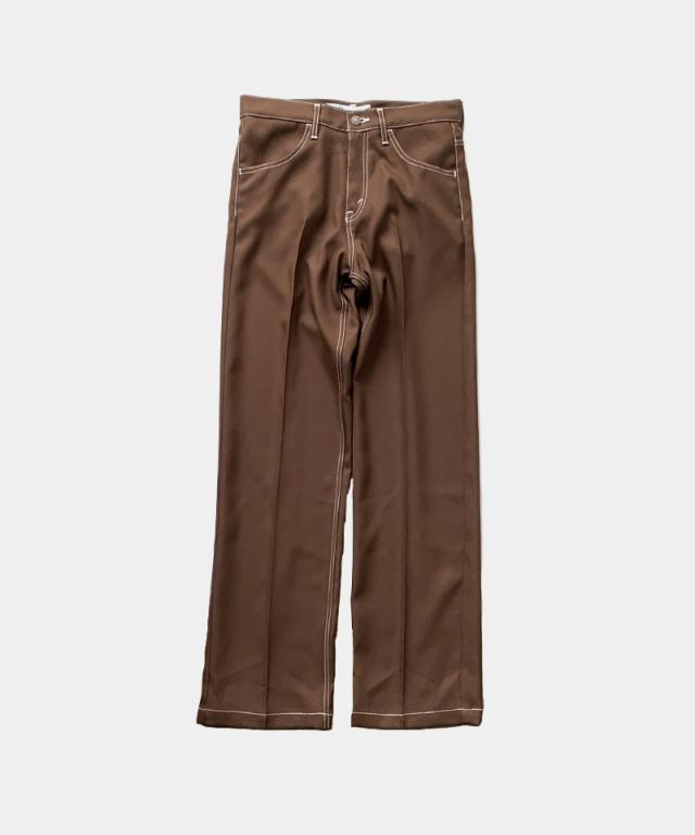 DAIRIKU Flasher Pressed Pants BROWN