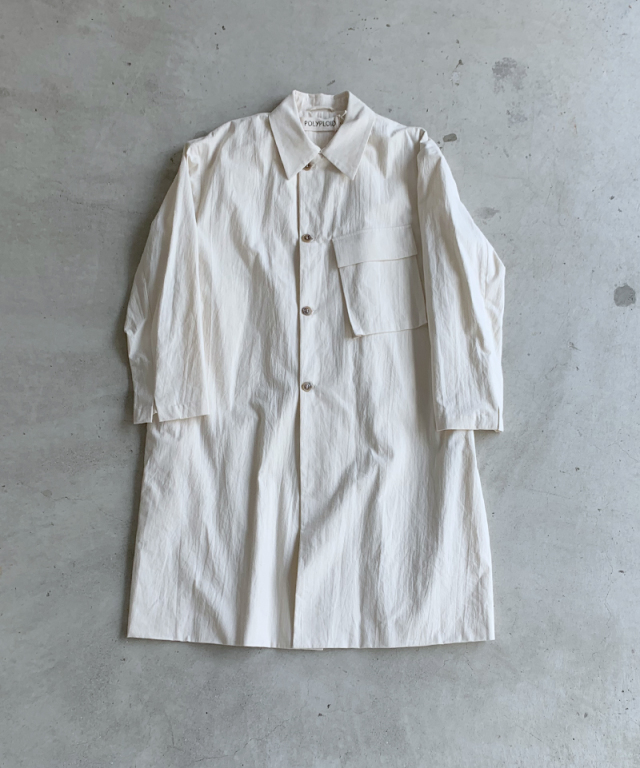 POLYPLOID STORM COAT A OFF WHITE