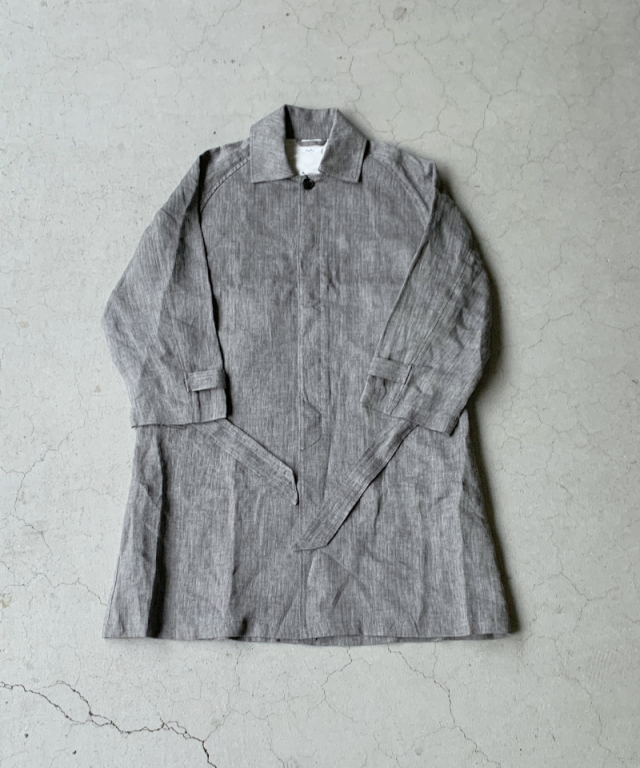 saby LINEN TYPE01 COAT ASH GRY