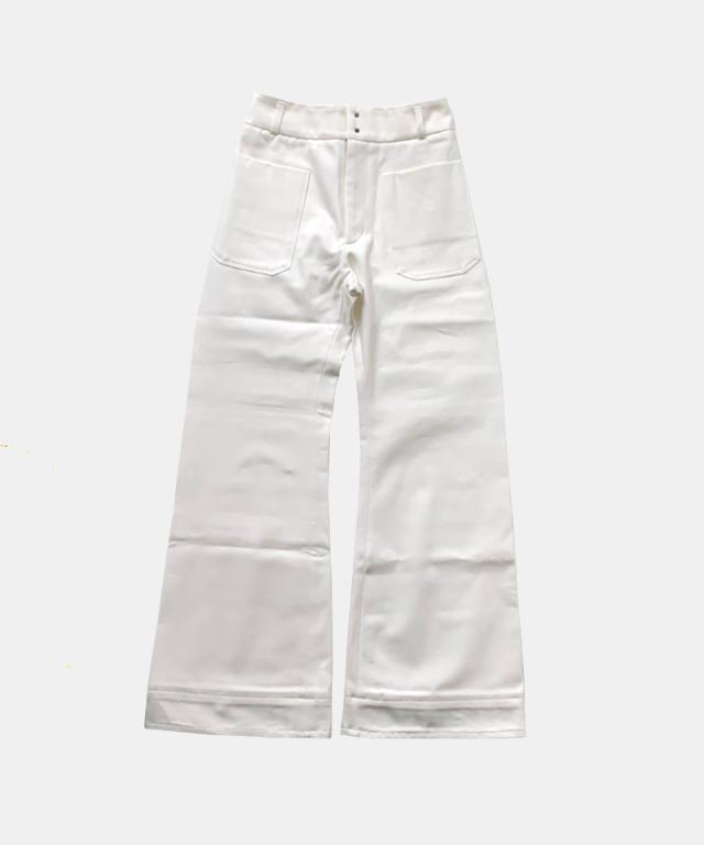 kengo bellbottoms off white