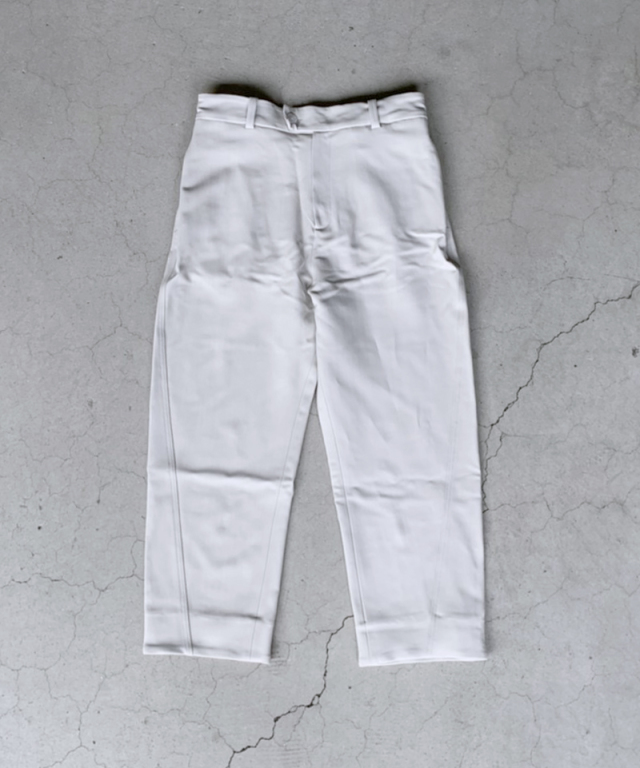 STUDIO NICHOLSON SUITING DOUBLE DISPLACED SEAM PANTS BONE