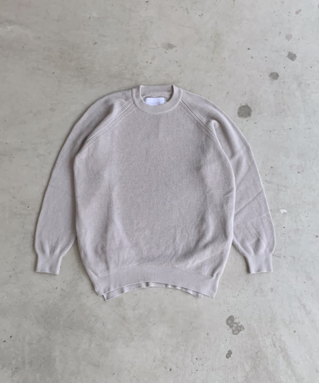 CURLY ASSEMBLY CREW KNIT LT.GRAY