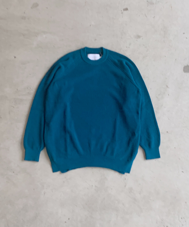 CURLY ASSEMBLY CREW KNIT BONDI BLUE