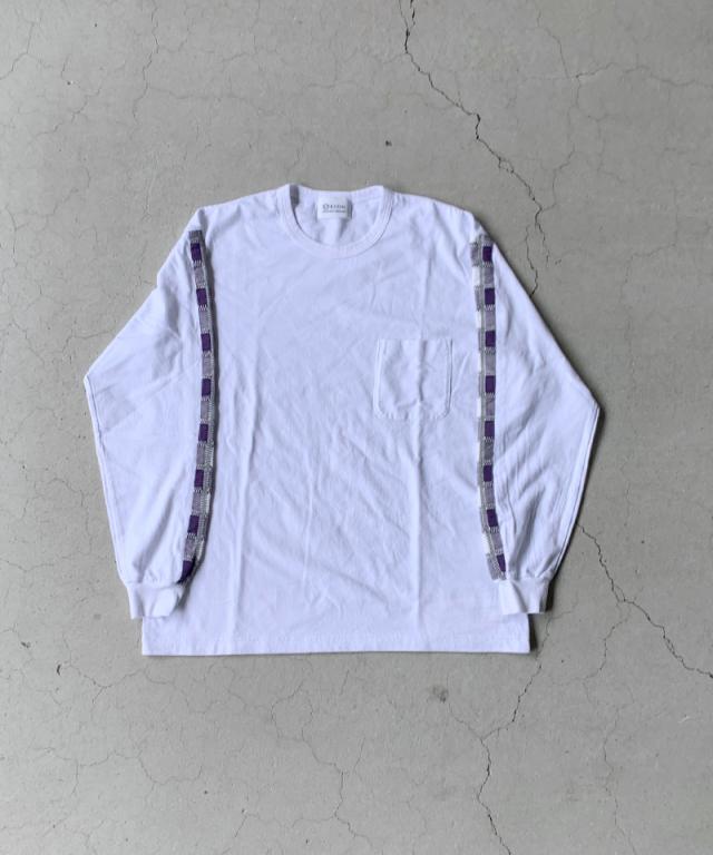KUON rroomm LONG SLEEVES T-SHIRT WHITE x PPL