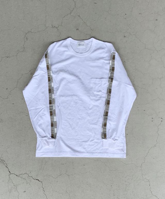 KUON rroomm LONG SLEEVES T-SHIRT WHITE x BRW