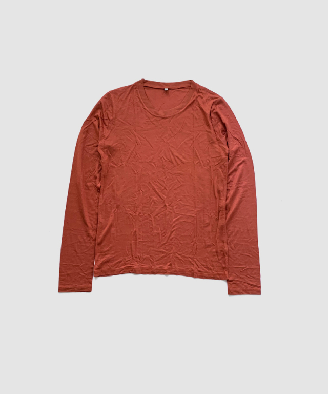 BASERANGE LONG SLEEVE TEE BRICK