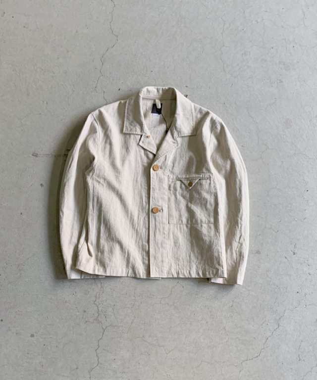 EASY TO WEAR LINEN CANVAS JACKET NATURAL