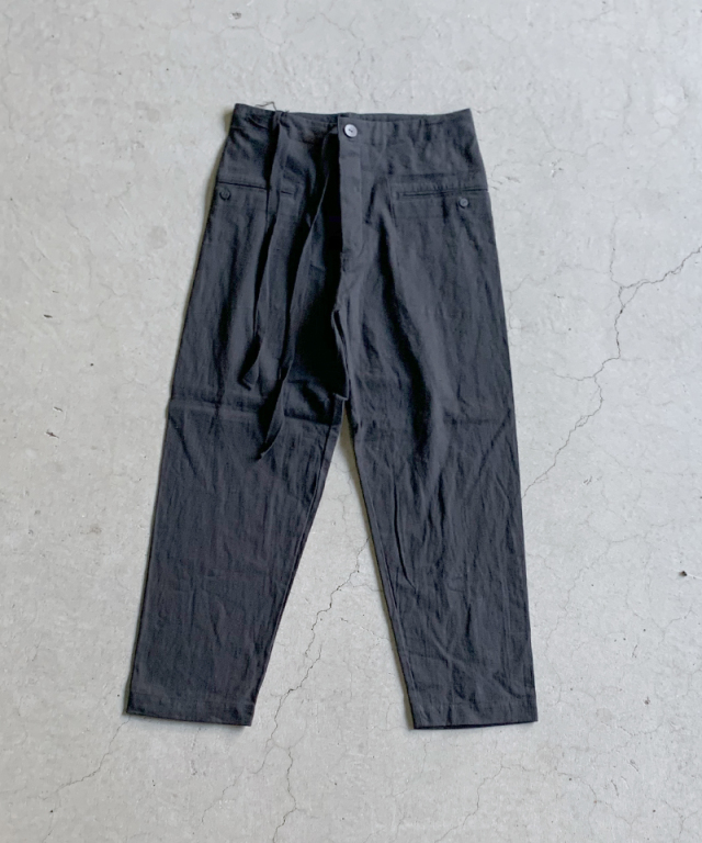 EASY TO WEAR LINEN CANVAS PANTS BLACK