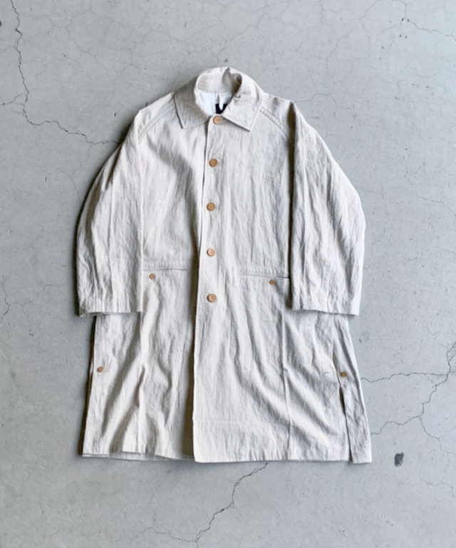 EASY TO WEAR LINEN CANVAS COAT NATURAL
