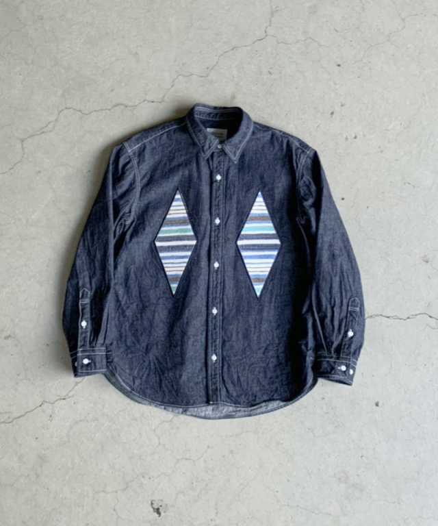 KUON DENIM SHIRT Navy